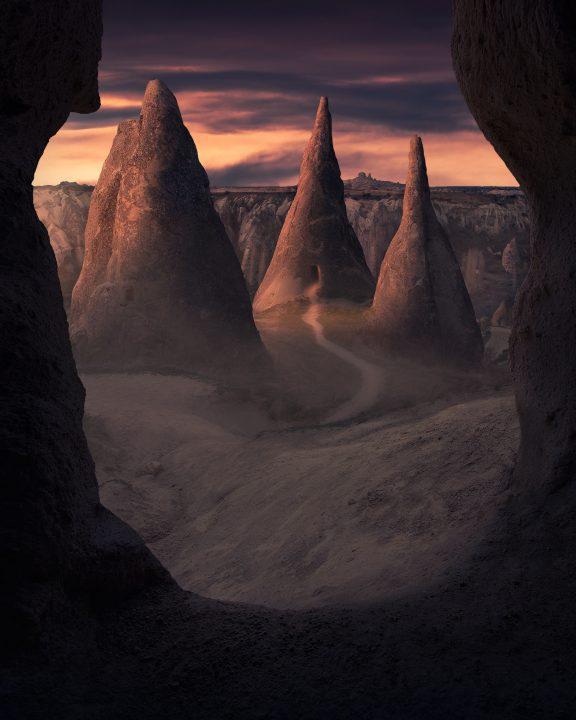 beautiful sunrise at Cappadocia