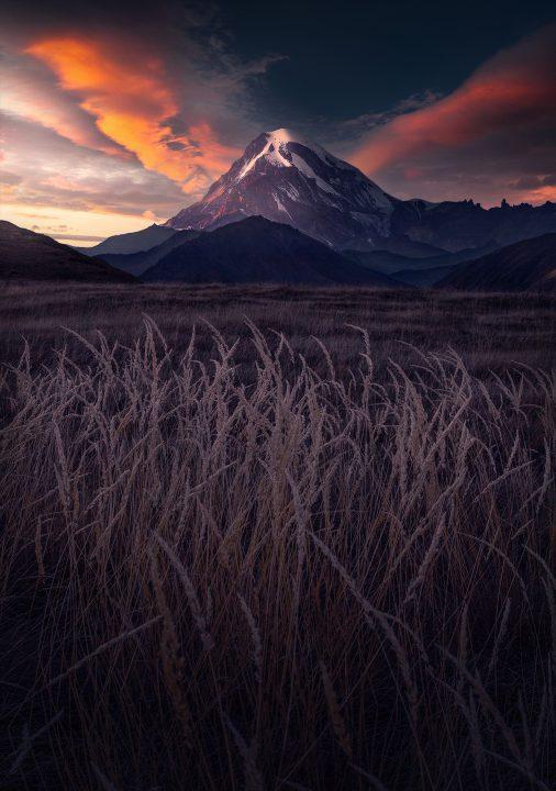 autumn in the kazbek mountain georgia